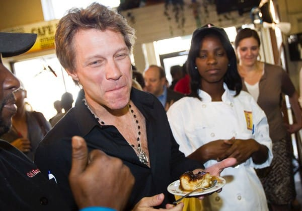 Musician, Chairman of the Jon Bon Jovi Soul Foundation and White House Council for Community Solutions Member Jon Bon Jovi attends the White House Council for Community Solutions Youth Listening Session at Cafe Reconcile on April 29, 2011 in New Orleans, Louisiana.