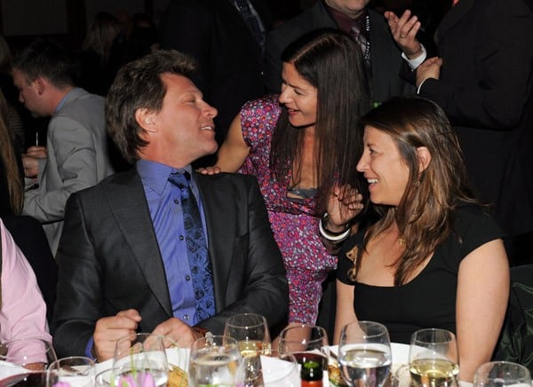 Musician Jon Bon Jovi, actress Jill Hennessy and Dorothea Bon Jovi attend Food Bank For New York City's Annual Can-Do Awards Gala at Pier Sixty at Chelsea Piers on April 7, 2011 in New York City.