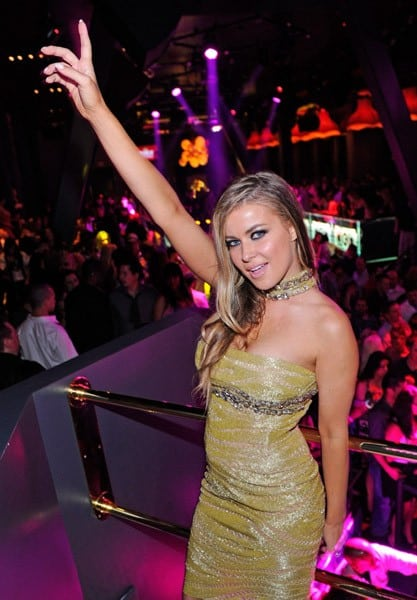 Actress Carmen Electra celebrates her birthday at Chateau Nightclub & Gardens at the Paris Las Vegas on April 16, 2011 in Las Vegas, Nevada.