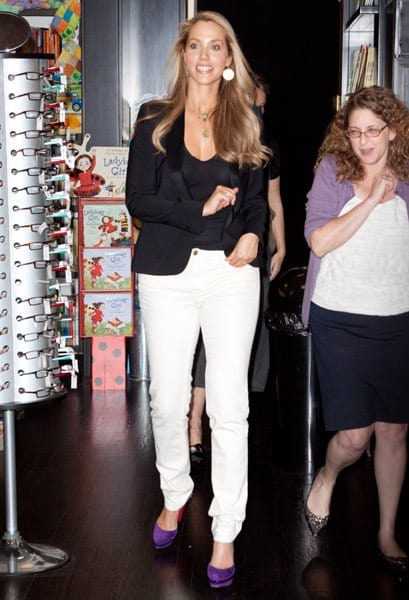 Actress Elizabeth Berkley signs copies of 'Ask Elizabeth' at Books and Books on April 20, 2011 in Bal Harbour, Florida.