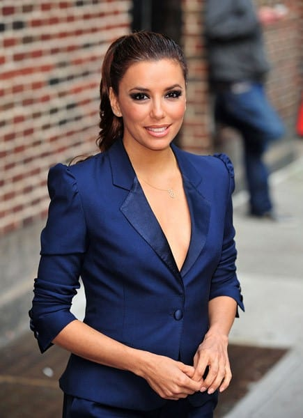 Eva Longoria seen leaving 'Late Show With David Letterman' at the Ed Sullivan Theater on April 4, 2011 in New York City.