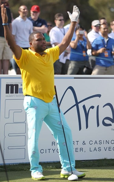 Anthony Anderson competes in the final round of the 10th Annual Michael Jordan Celebrity Invitational hosted by ARIA Resort & Casino At Shadow Creek on April 3, 2011 in Las Vegas, Nevada.