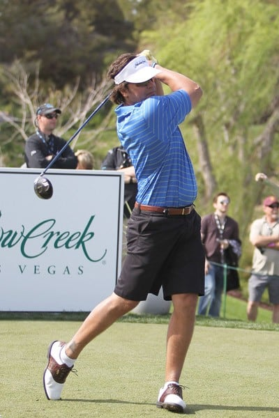 Mike Piazza competes in the final round of the 10th Annual Michael Jordan Celebrity Invitational hosted by ARIA Resort & Casino At Shadow Creek on April 3, 2011 in Las Vegas, Nevada.