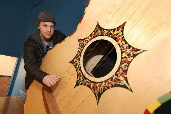 Singer/songwriter Gavin DeGraw attends the GRAMMY Foundation and Campbell's Labels For Education program at St. Edmund's on April 5, 2011 in Oak Park, Illinois.