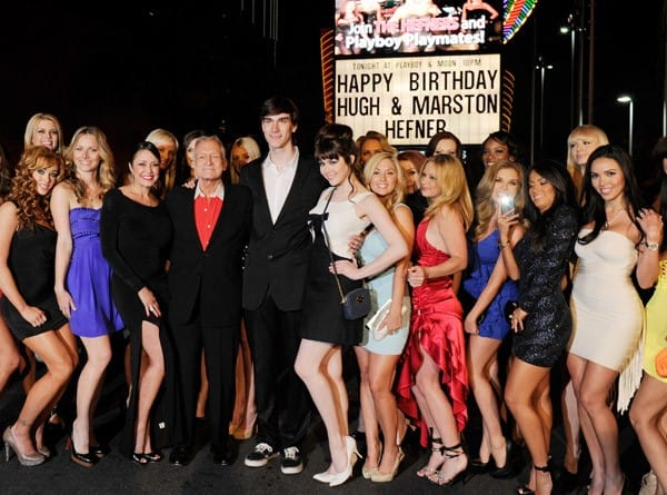 Playboy founder Hugh Hefner celebrates his 85th birthday at the Playboy Club at the Palms Casino Resort April 9, 2011 in Las Vegas, Nevada.