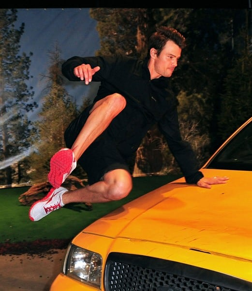 Josh Duhamel attends the launch of Reebok's RealFlex footwear at SIR Stage 37 on April 14, 2011 in New York City.