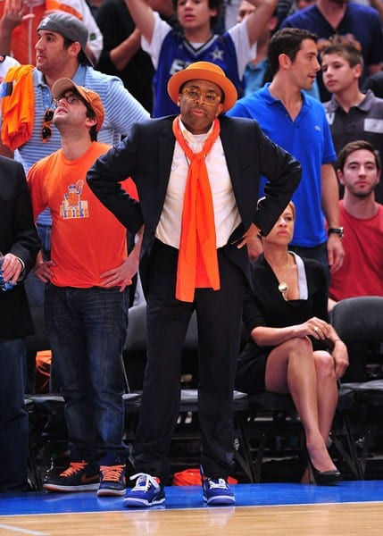 Spike Lee attends the Boston Celtics vs New York Knicks playoff game 4 at Madison Square Garden on April 24, 2011 in New York City.