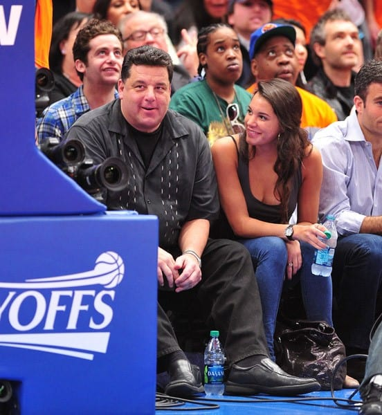 Steve Schirripa attends the Boston Celtics vs New York Knicks playoff game 4 at Madison Square Garden on April 24, 2011 in New York City.