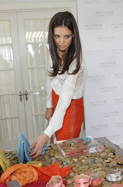 Actress Katie Holmes attends Ann Taylor And Katie Holmes Celebrate The Summer 2011 Collection at Chateau Marmont on April 26, 2011 in Los Angeles, California.