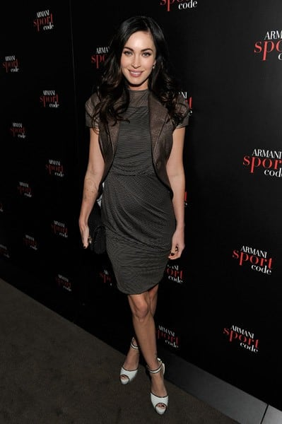 Actress Megan Fox attends Armani Code Sport Fragrance Launch at Mondrian Soho on April 20, 2011 in New York City.
