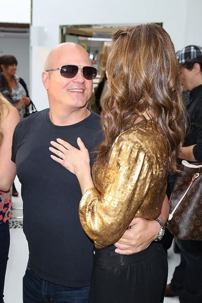 Actor Jessica Alba, Actor Michael Chiklis and NY Times bestseller Maria Menounos celebrates with MARTINI Prosecco at Shay Todd on April 22, 2011 in Los Angeles, California.