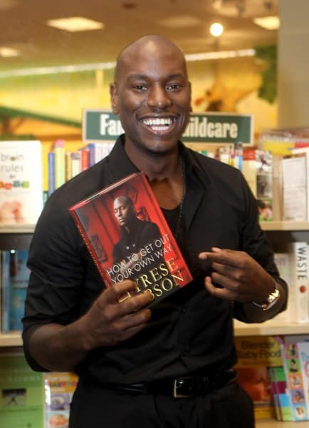 Tyrese Gibson signs copies of his new book 'How To Get Out Of Your Own Way' in Barnes & Noble bookstore at The Grove on April 18, 2011 in Los Angeles, California.