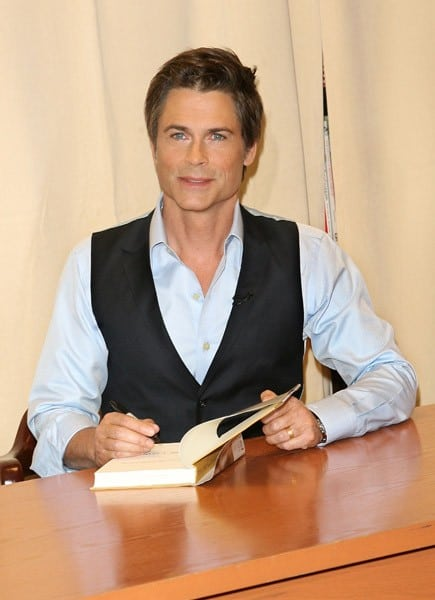Rob Lowe signs copies of his book 'Stories I Only Tell My Friends' at Barnes & Noble, 5th Avenue on May 2, 2011 in New York City.