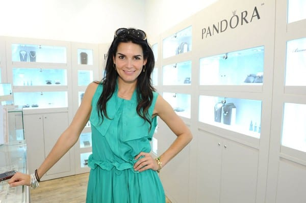 Angie Harmon Hosts the PANDORA Mother's Day Event at Santa Monica Place on May 7, 2011 in Santa Monica, California.