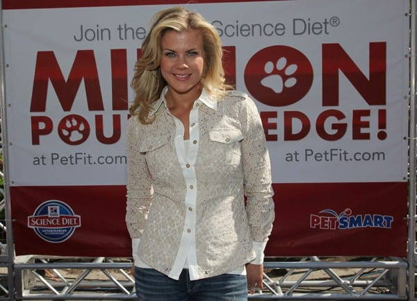 Alison Sweeney and Hill's Pet Nutrition Launch The Science Diet Million Pound Pledge at Union Square on May 6, 2011 in New York City.