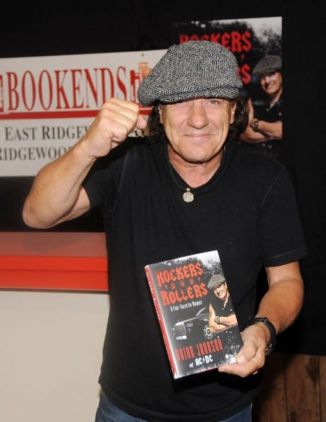 Musician Brian Johnson of AC/DC promotes 'Rockers and Rollers: A Full-Throttle Memoir' at Bookends Bookstore on May 26, 2011 in Ridgewood, New Jersey.