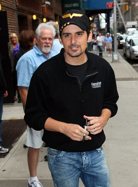 Singer/Musician Brad Paisley visits 'Late Show With David Letterman' at the Ed Sullivan Theater on May 24, 2011 in New York City.