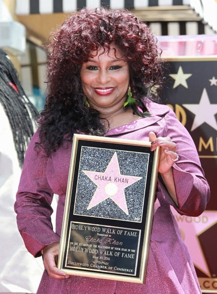 Chaka Khan attends the ceremony honoring her with a Star on the Hollywood Walk of Fame on May 19, 2011 in Hollywood, California.