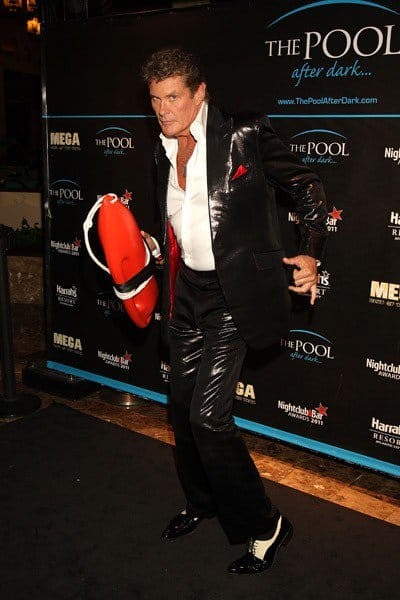 David Hasselhoff visits The Pool at Harrah's Resort May 21, 2011 in Atlantic City, New Jersey.