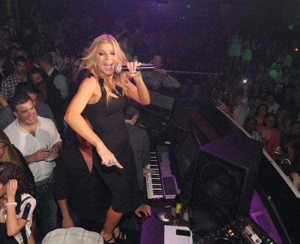 Fergie of The Black Eyed Peas performs at Haze Nightclub on May 20, 2011 in Las Vegas, Nevada.