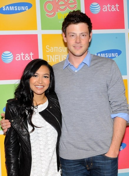 'GLEE' castmembers Cory Monteith and Naya Rivera greet fans during the Samsung Infuse 4G for AT&T event at Stevens Creek AT & T Store on May 24, 2011 in San Jose, California.