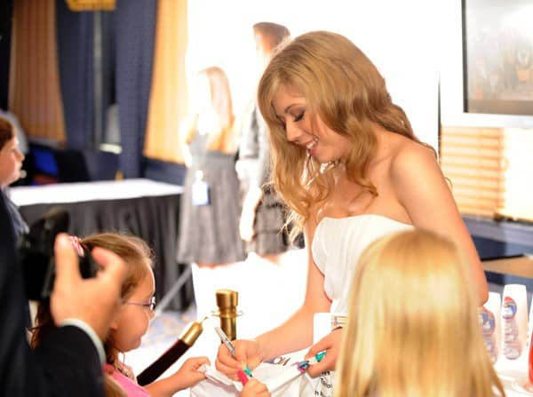 Jennette McCurdy signs autographs at a fund raiser for St. Jude Childrens Research Hospital at Peabody Hotel on May 14, 2011 in Memphis, Tennessee.