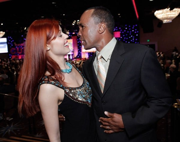 Anna Trebunskaya and Sugar Ray Leonard attend the Juvenile Diabetes Research Foundation's 8th Annual Gala 'Finding a Cure: A Love Story' at The Beverly Hilton hotel on May 5, 2011 in Beverly Hills, California.