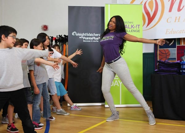 Actress and singer Jennifer Hudson attends the Weight Watchers Walk-It Challenge at the Namaste Charter School on May 10, 2011 in Chicago, Illinois.