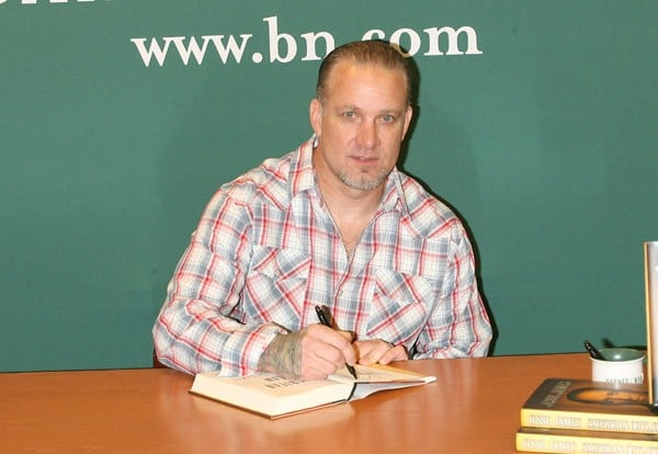 Jesse James signs copies of 'American Outlaw' at Barnes & Noble, 5th Avenue on May 5, 2011 in New York City.
