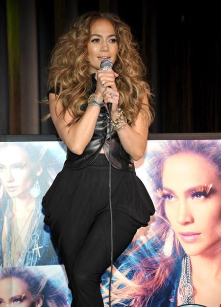 Jennifer Lopez attends the album release celebration for 'Love?' at Hard Rock Cafe - Hollywood on May 3, 2011 in Hollywood, California.