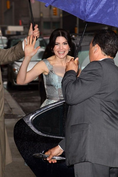 Actress Julianna Margulies visits 'Late Show With David Letterman' at the Ed Sullivan Theater on May 16, 2011 in New York City.