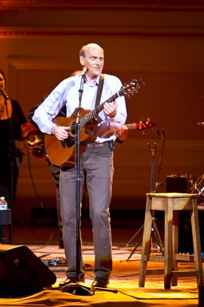 Singer James Taylor performs during his Perspectives Series: Quintessential James Taylor at Carnegie Hall on May 9, 2011 in New York City.