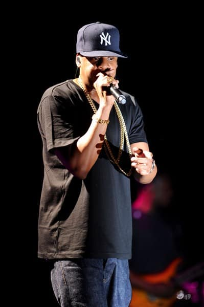 Jay-Z performs onstage at the Adult Swim Upfront 2011 at Roseland Ballroom on May 18, 2011 in New York City.