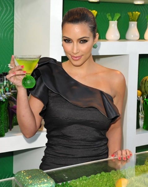 Kim Kardashian attends the Midori Melon Liqueur Trunk Show at Trousdale on May 10, 2011 in West Hollywood, California.