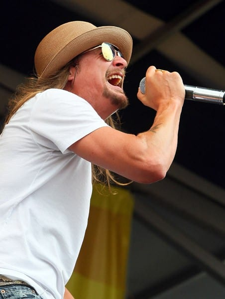 Musician Kid Rock performs during day 7 of the 2011 New Orleans Jazz & Heritage Festival at the Fair Grounds Race Course on May 8, 2011 in New Orleans, Louisiana.