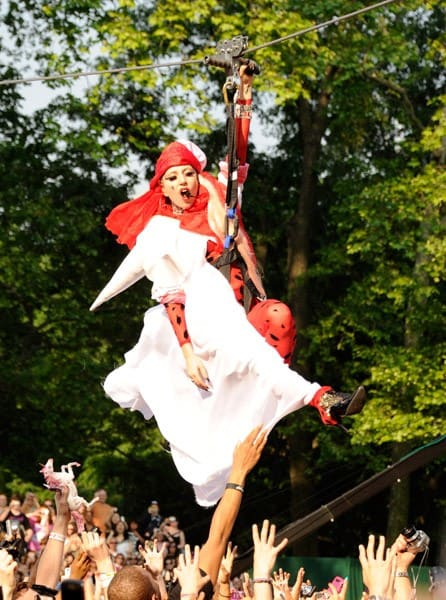 Lady Gaga performs on ABC's 'Good Morning America' at Rumsey Playfield, Central Park on May 27, 2011 in New York