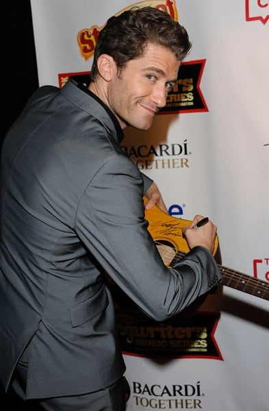 Matthew Morrison attends Starburst Presents The VH1 Save The Music Foundation's Songwriter Music Series at the Hard Rock Cafe - Times Square on May 16, 2011 in New York City.