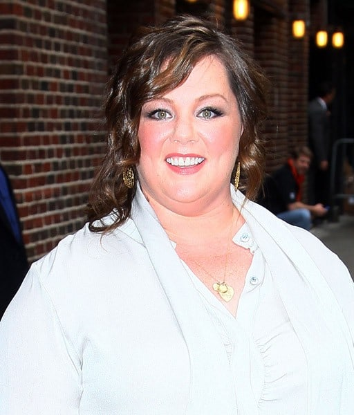 Actress Melissa McCarthy arrives at 'Late Show With David Letterman' at the Ed Sullivan Theater on May 17, 2011 in New York City.