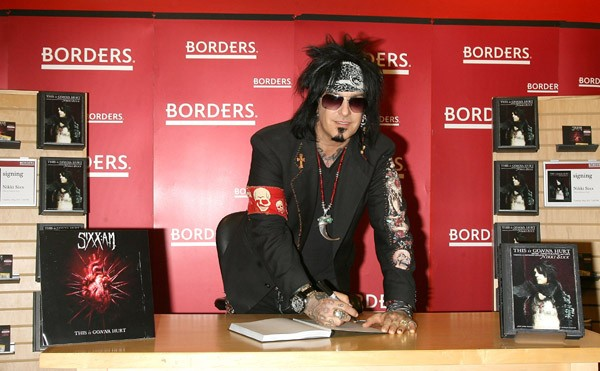 Nikki Sixx promotes 'This Is Gonna Hurt' at Borders Columbus Circle on May 3, 2011 in New York City.