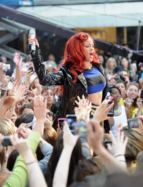 Rihanna performs on NBC's 'Today' in Rockefeller Plaza on May 27, 2011 in New York City.