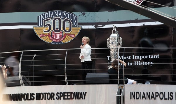 Florence Henderson performs during the 100th Anniversary Indianapolis 500 at Indianapolis Motor Speedway on May 29, 2011 in Indianapolis, Indiana.