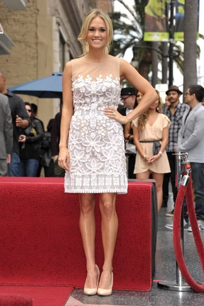 Carrie Underwood attends the Simon Fuller Hollywood Walk Of Fame Induction Ceremony on May 23, 2011 in Hollywood, California.