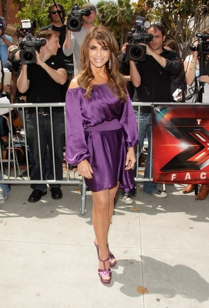 Paula Abdul and Simon Cowell attend the 'The X Factor' Auditions at Galen Center on May 8, 2011 in Los Angeles, California.