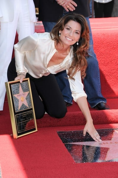 Shania Twain is Honored with a Star on the Hollywood Walk of Fame on June 2, 2011 in Hollywood, California
