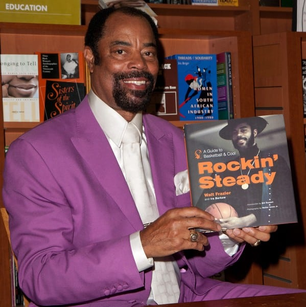 Walt Frazier 'Rockin' Steady: A Guide to Basketball and Cool' Book Signing at Hue-Man Bookstore & Cafe in Harlem on June 16, 2011 in New York.