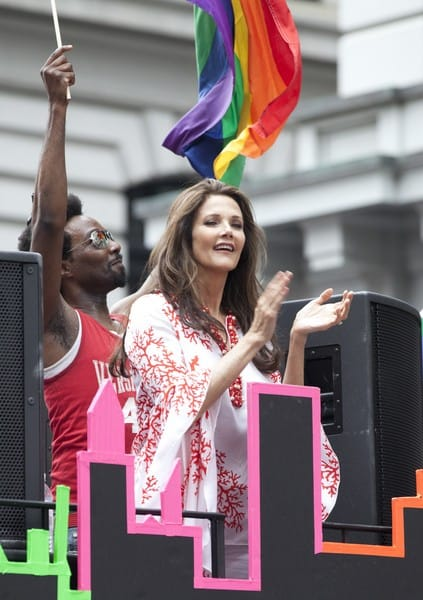 Andrew Cuomo, Sandra Lee, Michael Bloomberg and Lynda Carter Attend the Gay Pride March 2011 on Fifth Avenue in New York City on June 26, 2011