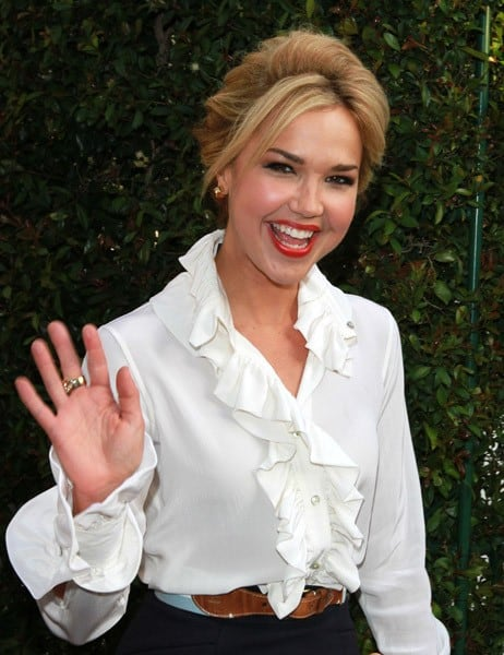 Arielle Kebbel is seen at The Grove on June 9, 2011 in Los Angeles, California.
