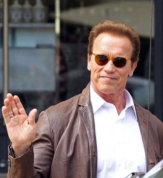 Arnold Schwarzenegger is seen shopping at Barneys New York on June 4, 2011 in Los Angeles, California.