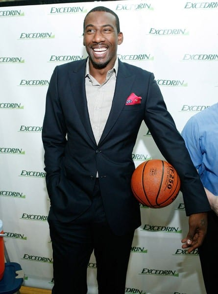Amar'e Stoudemire attends the Excedrin What's Your Headache? Contest sports charity launch at Chelsea Piers Sports Center on June 15, 2011 in New York City.