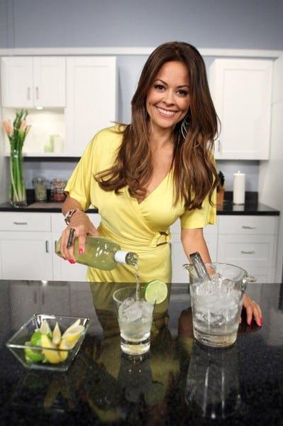 Brooke Burke hosts the launch of Bacardi Hand Shaken Daiquiri at Fast Lane Broadcast Studio on June 29, 2011 in Burbank, California.